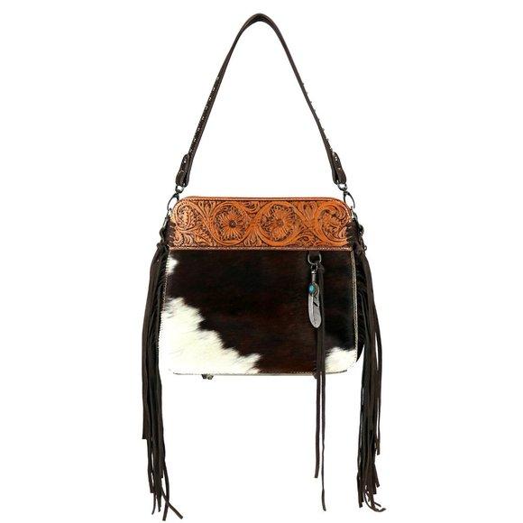 Trinity Ranch Hair-on Leather Collection Handbag